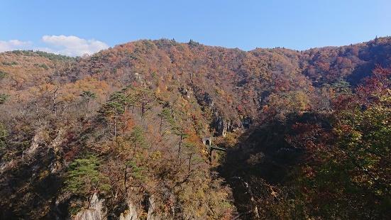 大深沢橋から見る紅葉